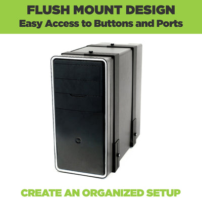 HIDEit Mounts adjustable wall mount for CPU fits most PC Towers.