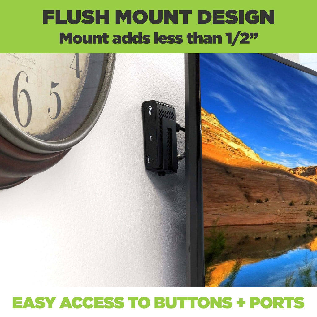 HIDEit wall mount designed for extra small electronic devices; flush wall installation.