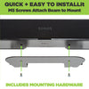 Sonos Beam Wall Mount is easy to install and uses the Sonos Beam Soundbar's existing mounting holes.
