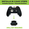 HIDEit's controller wall mount, Uni-C, installed in three easy steps to save space.