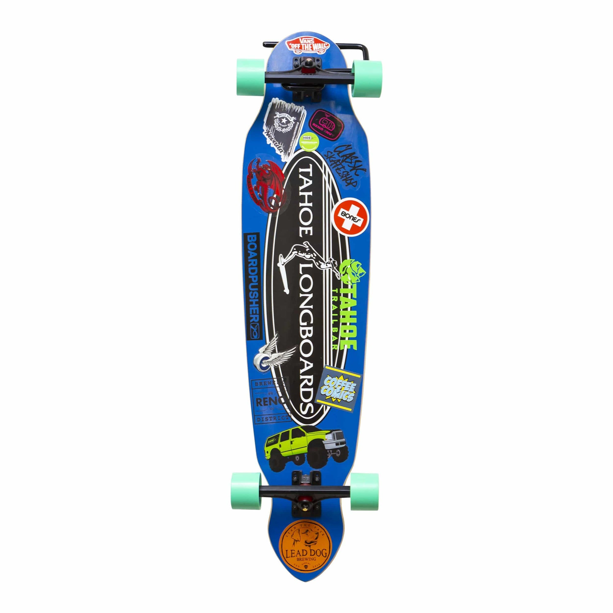 Tahoe longboard wall mounted in the HIDEit Display Skateboard Wall Mount.