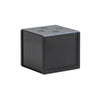 Black steel HIDEit mount securely holding Amazon Fire TV Cube.