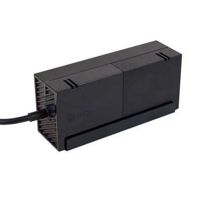 Power brick securely mounted in HIDEit Mounts wall mount for video game console power bricks.