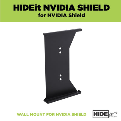Empty steel NVIDIA Shield wall mount made by HIDEit Mounts