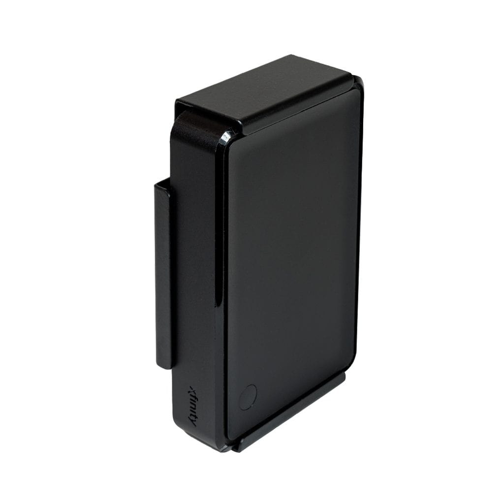 Xfinity XiD-P securely mounted in a black, steel HIDEit XiD-P wall mount.