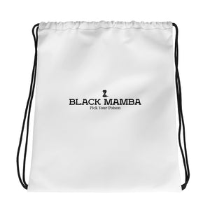 Black Mamba Drawstring Bag