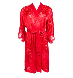 Dressing Floral Robe Red