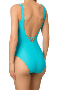 Chic Tressage Plunging Swimming Costume
