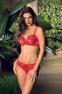 Dressing Floral Italian Brief Red