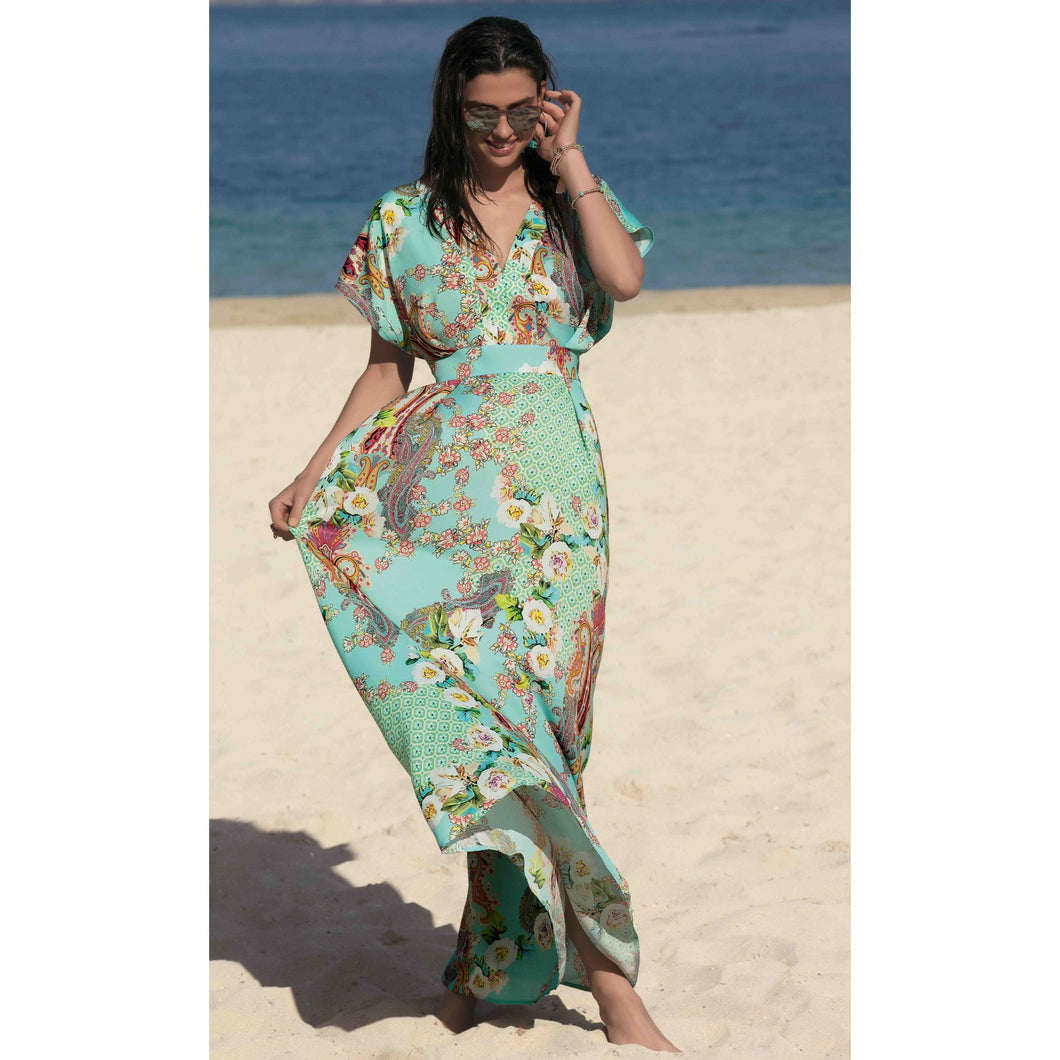 Fleurs Lagon Long Beach Dress