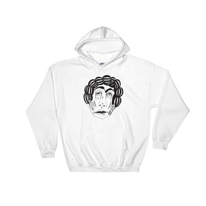 Curly Q White Hoodie