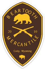 Beartooth Mercantile Sticker - Brown and Gold