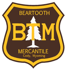 """BTM"" Brown Gold Shield Sticker - 4"""