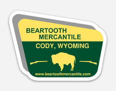 Beartooth Forest Service Sign 3 inch Sticker