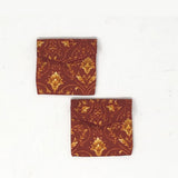 Rust Damask Coin/ Ginni Pouch (set of 2)
