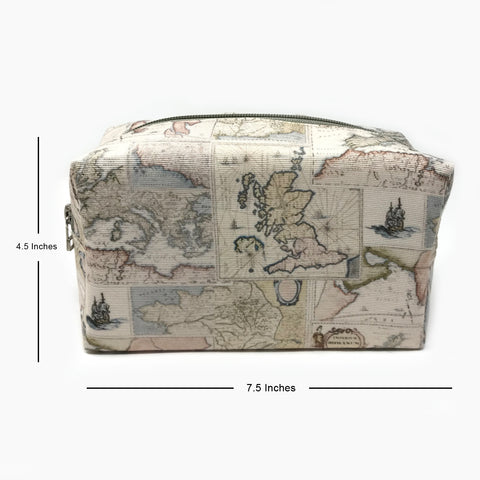 World Map Travel Pouch