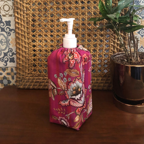 Magenta Chintz Sanitizer Bottle Cover