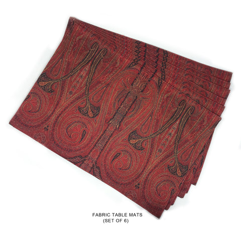 Red Shawl inspired Fabric Tablemats