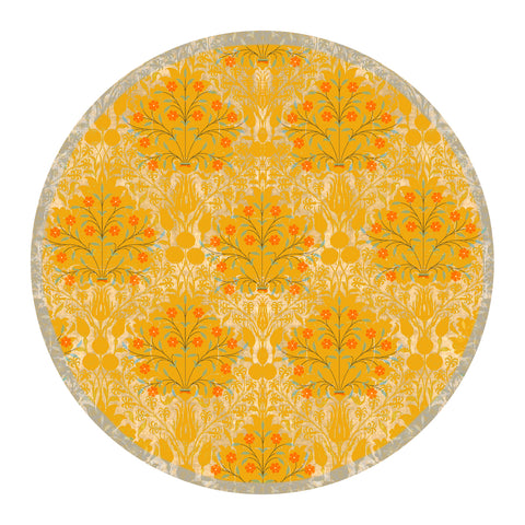 Yellow Delicate Floral Trivet
