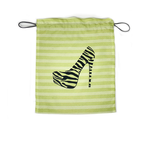 Stiletto Silhouette Large Drawstring Pouch