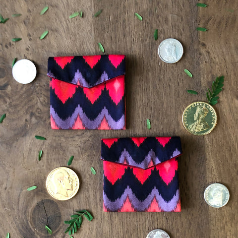 Ikat Pop Coin/ Ginni Pouch (set of 2)