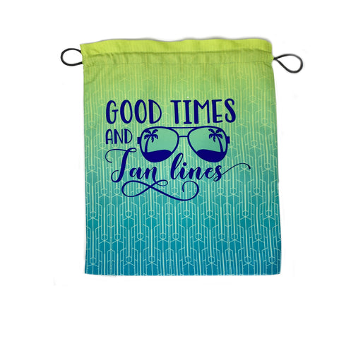 Good Times Large Drawstring Pouch