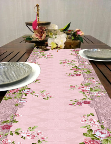 Floral Grunge Coffee Table Runner