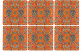 Orange Ikat Coaster