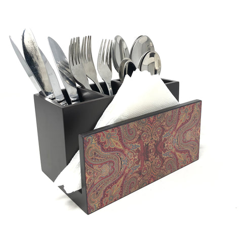 Paisley Jamawar Cutlery Stand with Tissue Paper Holder