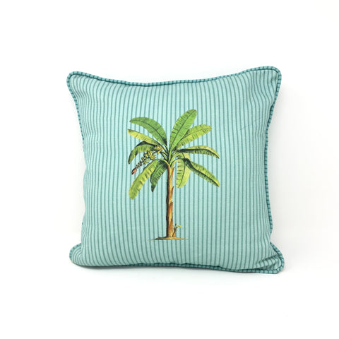 Tropical Palm Tree Reversible Cushion