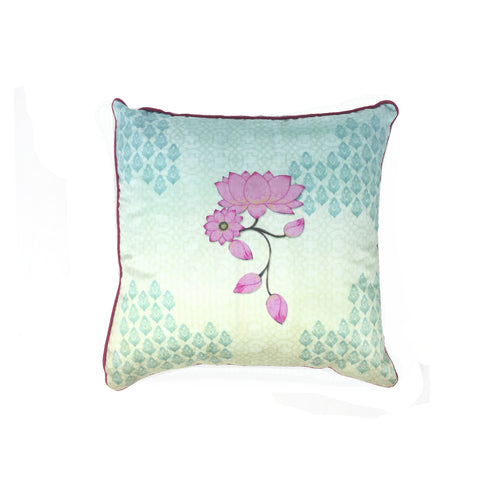 Gardens of Paradise Lotus Buta Cushion