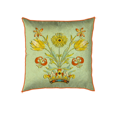 Mint Delicate Floral Cushion