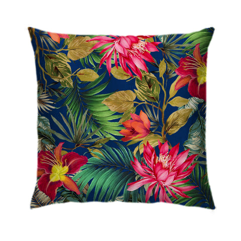 Tropical Blue Foliage Cushion