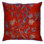 Lotus Chintz Rust Cushion