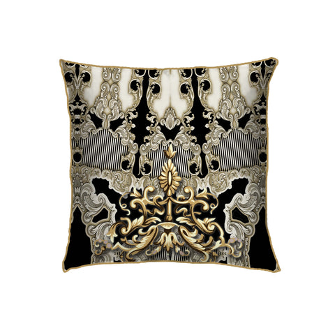 Ebon Baroque Small Cushion