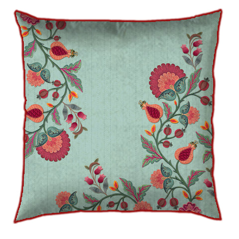 Floral Tranquil Blue Cushion