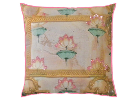 Framed Lotus Cushion