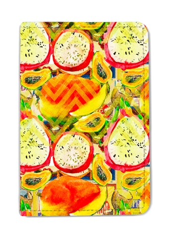 Papaya Shevron Passport Holder