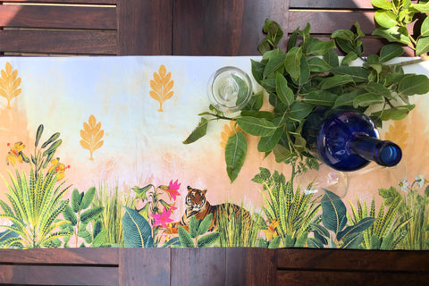 Tropical Jungle Coffee Table Runner