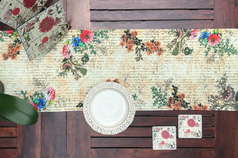 Vintage Garden Dining Table Runner