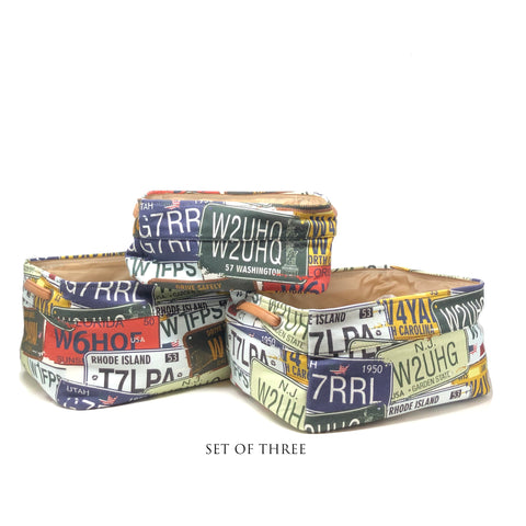Number Plate Storage Basket Set of 3