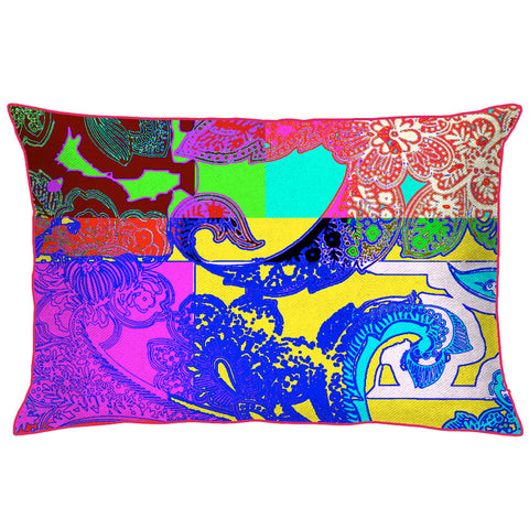 Floral Abstract Multicolored Cushion