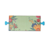 Mint Checked Floral Tissue Paper Holder