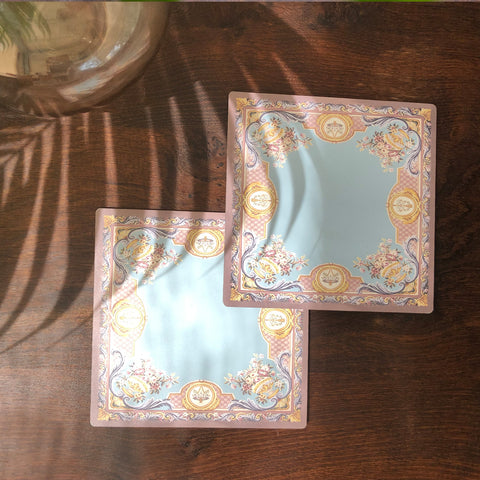 Blue Baroque Trivet Set (Set of 2)