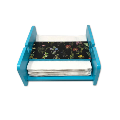 Black Botanical Tissue Paper Holder