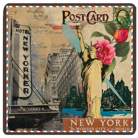 Postcard Collection - New York Trivet