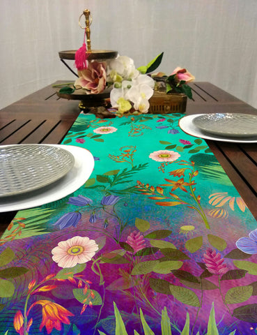 Trippy Floral Dining Table Runner
