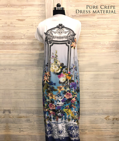 Floral Archway Dress Material