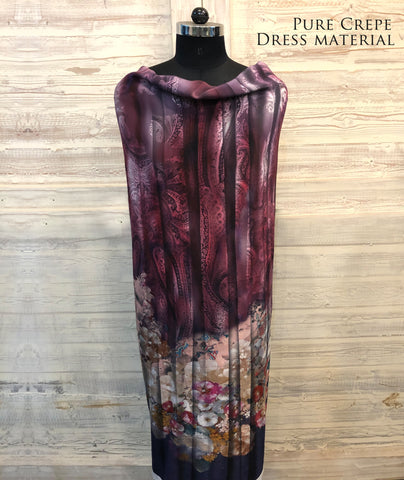 Paisley Floral Ombre Dress Material