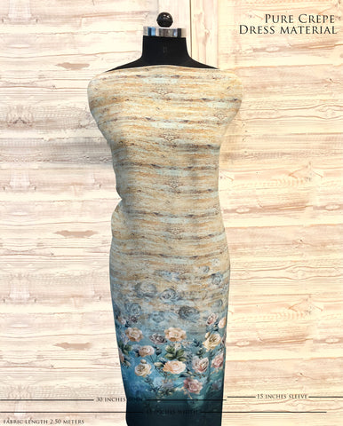 Floral Ombre Dress Material